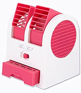 Mini Cooling Fan USB Battery operated portable air conditioner cooler,pink color