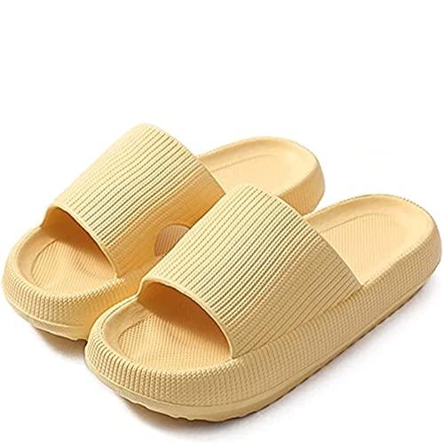 Zapatillas de diapositivas de almohada, Zapatillas de la casa de la suela Super Sole Super Soft Super Soft, zapatillas ultra-blando Sandalias de sábanas de sábanas de secado rápido para mujer y hombre