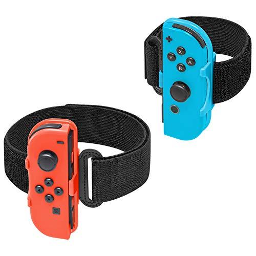 FYOUNG Beingurt für Ring-Passform Adventure Nintendo Switch und verstellbares Gummiband für Just Dance 2020 2019 Switch
