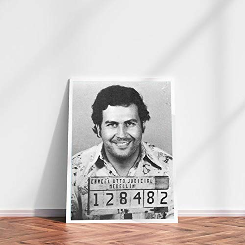 DPFRY Leinwand Malerei Wandkunst Bild Pablo Escobar Legend Poster Drucken Leinwand Malerei Ohne Rahmen 40 * 60 cm