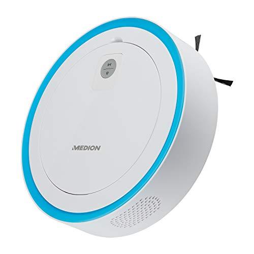 MEDION Saugroboter mit intelligenter Lasernavigation (App und Alexa kompatibel, Raumkarte, 120 Min Laufzeit, Roboterstaubsauger mit Ladestation, Tierhaar und Allergiker optimiert, MD18861)