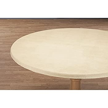 Miles Kimball Illusion Weave Vinyl Elasticized Table Cover by HSK 45  - 56  Dia Round