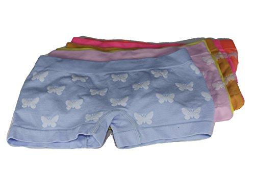 amara-global 6 X Mädchen Kinder Boxershorts MICROFASER 2 bis 16 Jahre Schmetterling DE3273 (6 BIS 8 Jahre)