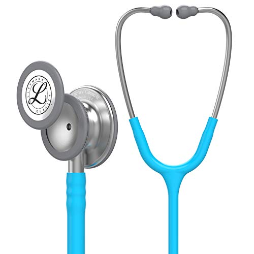 3M Littmann Classic III Monitoring-Stethoskop, türkisfarbene Röhre, 27 Zoll, 5835
