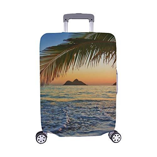 (Solo Cubrir) Pacific Sunrise Lanikai Beach Hawaii Maleta con Ruedas Maleta Protectora para Equipaje de Viaje Cubierta Protectora para 28.5 X 20.5 Inch