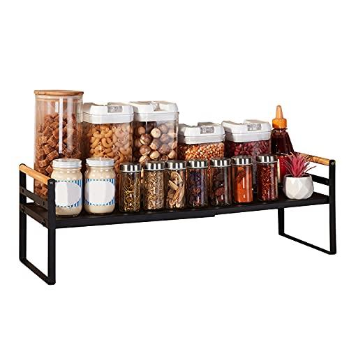 SPOWAY Organizador de Encimera, Soporte de Especias para Despensa, Organizador de Especias para Gabinete de Cocina, Estante de...