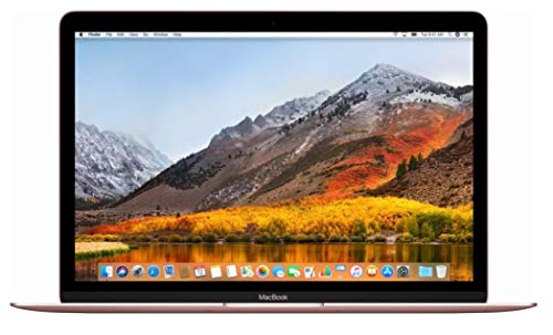 Apple MacBook 12in Retina 2017 (Newest Version) 256GB SSD / 8GB RAM - Rose Gold (Renewed)
