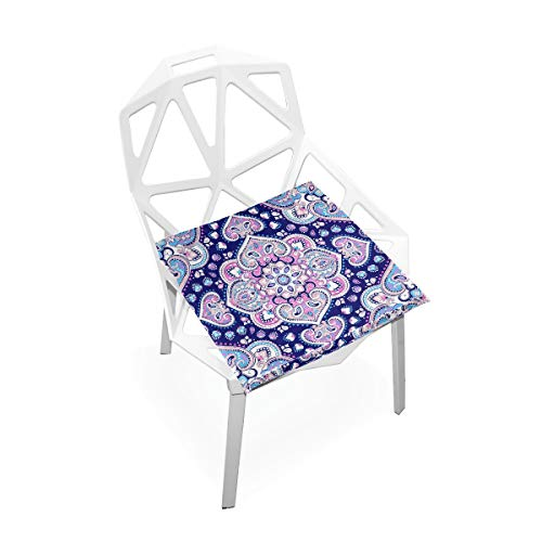 Cojín de espuma viscoelástica para sillas de cocina, suave, lavable, antipolvo, silla de comedor, cojín de 40,6 x 40,6 cm (mandala) 2030132