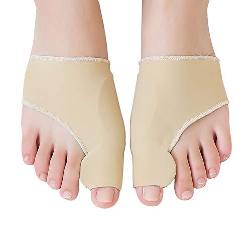 Correttore per alluce valgo, 1 paio di tutori per alluce valgo con cuscinetto in gel di silicone integrato per alleviare il dolore