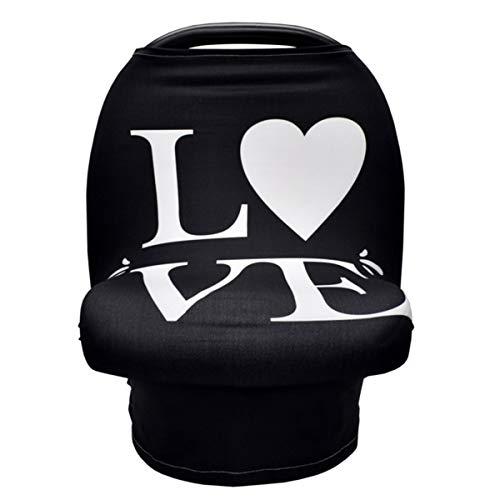 Dehnbarer Baby-Stillbezug Babyautositz-Baldachin Kinderwagenbezug Stillbezug Babyparty-Geschenk mit Schlafschild Mehrzweck-Cover-Ups für Kinderwagen-Hochstuhl-Einkaufswagen