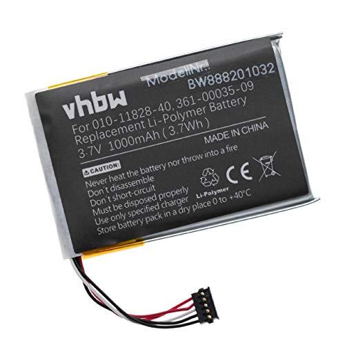 vhbw Batería reemplaza Garmin 010-11828-40, 351-00035-09, 361-00035-09 para Collar para Perros adiestrador - 1000mAh (3,7V) polímero de Litio