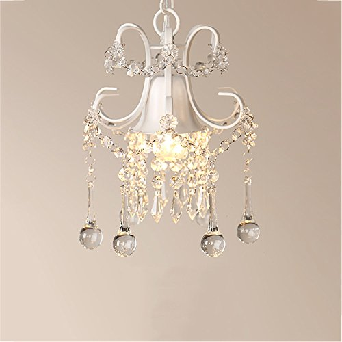 Wjvnbah Lamparas de Arana Creativa Colgante de Cristal de la lámpara Europea Oro/Blanco lámpara de Hierro Comedor Dormitorio de Techo ala del balcón E27 Decorativo Diámetro de luz: los 23