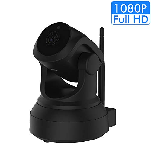 WiFi Camera Indoor [New 2019] FullHD 1080p, Best Rated Smart App,WiFi Home Security Camera Pan,Wireless IP Indoor Surveillance System/Night Vision, Remote Baby Monitor (Black)