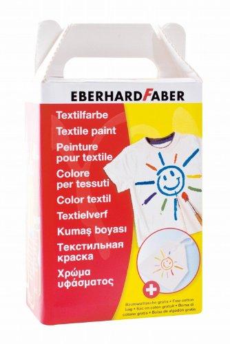 Eberhard Faber 578206 - Textilmalfarbe mit Baumwolltasche 6er