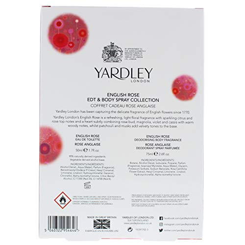 Yardley Yardley englisch rose 50 ml eau de toilette 75 ml körperspray