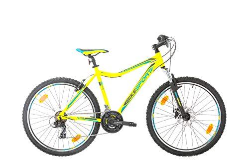 BIKE SPORT LIVE ACTIVE Bikesport Sporty 26 Zoll Fahrrad Mountainbike Herren-Fahrrad Jungen-Fahrrad Shimano 21 Gang (Grün matt)