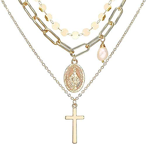 NC190 Collar de Perlas de Oro Vintage Collares Pendientes para Mujer Collar Largo de Perlas Bohemias Joyas