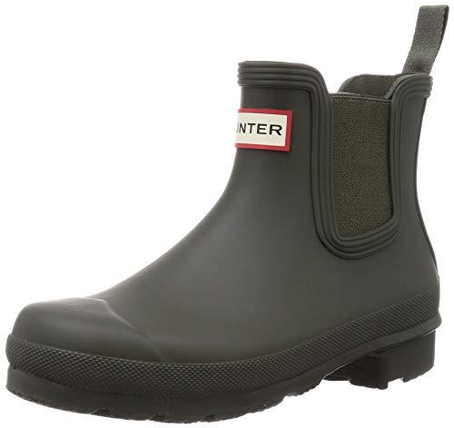 Hunter Chelsea botas tobilleras originales para mujer, ajuste mejorado, Verde (Oliva oscuro), 40 EU