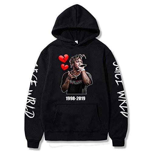 Rapper Juice Hoodie Hip Hop Sweatshirt Pocket Pullover Tops For Men Women (C.Juice Wrld,M)