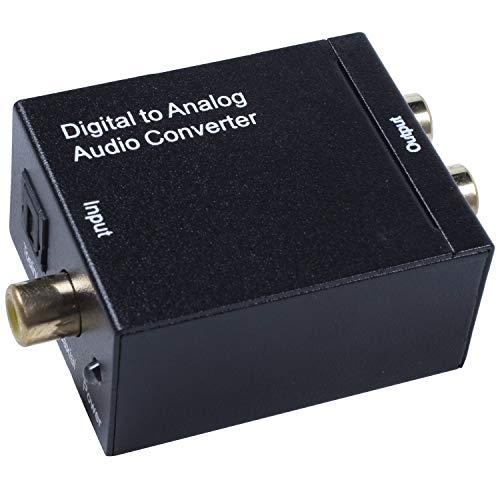 Nrpfell Conversor De Audio Digital A Analogico Digital Optico Coaxial RCA Toslink Senal A Analogo Conversor De Audio Cine En Casa para DVD TV