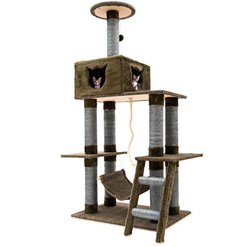 Benji & Max Albero tiragraffi per gatti, albero da arrampicata, albero per gatti (marrone)