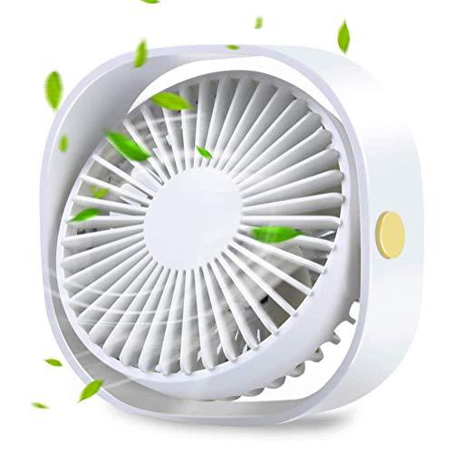XYL USB Desktop Mini Ventilatore Piccolo Desktop Personale Portatile 3 velocità Bianco Ventola silenziosa Progettazione del Desktop