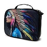 Tocado de Plumas de Colores Travel XL Toiletry Bag Baby Toiletry Bag Bags Cosmético Impreso multifunción Bolsa para Mujeres