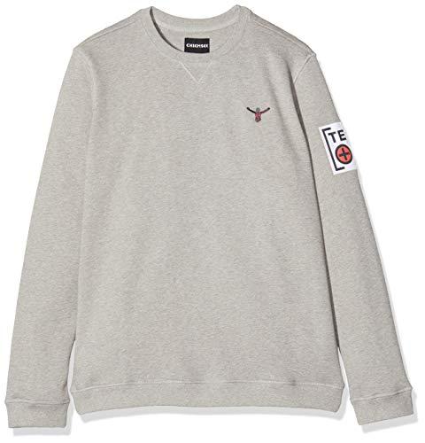 Chiemsee Erwachsene Unisex Sweatshirts, Neutral Gray, 2XL