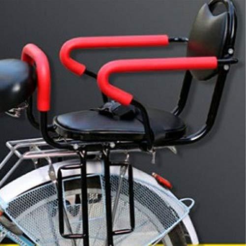 AIRUYI Portador de niños pequeños Niño Bicicleta Asiento Trasero niño Cubierta de Asiento de Bicicleta Bicicleta Bastidor de Descanso cojín con Espalda sillín Accesorios Accesorios Piezas de Cuero PU