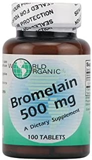 World Organic Bromelain - 500 Mg - 100 Capsules