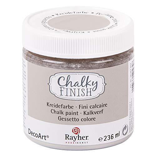 RAYHER HOBBY 38868807 Chalky Finish auf Wasser-Basis, Kreide-Farbe für Shabby-Chic-, Vintage- und Landhaus-Stil-Looks, 236 ml, helltopaz
