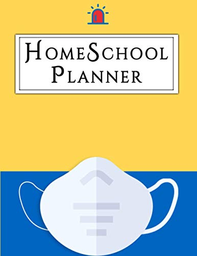 Homeschool Planner: A Homeschooling Lesson Planner and Tracker, School Planner for Elementary Kids, Traditional Curriculum Organization and Lesson Planner with Mosaic Mask.