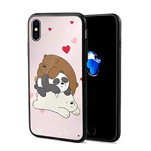Taliadia We Bare Bears Case for iPhone XR Series, Shockproof Soft Silicone Case Cover Full-Body Protection