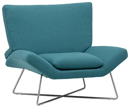 Amazon Brand – Rivet Farr Lotus Accent Chair, 39.8″W, Aqua