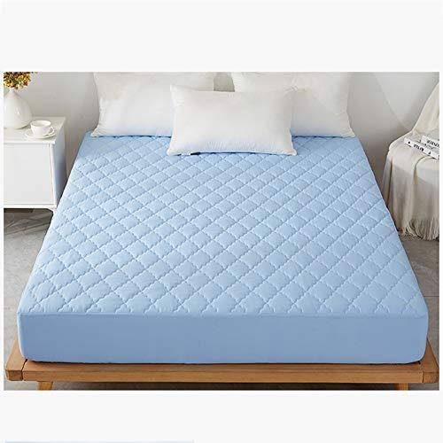 AIKES Protector de colchón impermeable, cómodo y transpirable, protectores de colchón suaves y lavables, disponible durante todo el año, azul 120 x 200 x 30 cm