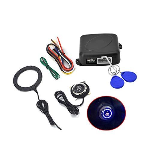 ZHANGWY Yang Store AutoStart One Start Detener el botón del Motor con Bloqueo RFID Encendido Claudo sin Llavero Sistema de Alarma de Arranque Accesorios para automóviles