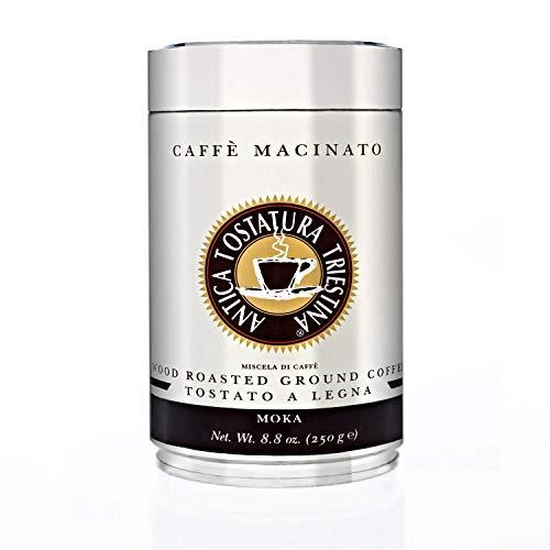Caffè Moka , Tostato a Legna, macinato per Moka Antica Tostatura Triestina, 1 barattolo da 250g