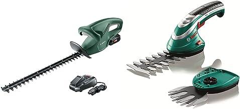 Bosch Home and Garden 0600849H70 EasyHedgeCut 18-45 & Bosch 600833172 Cordless Edging Shear Set Isio (3.6 V, Blade Length ...