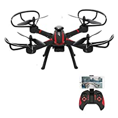 Functions: ascend/descend/forward/backward/side flying/360°rolling action/hover/2.0MP HD Camera/Speed switch mode/One-key return/Headless mode/Barometer set height mode. 2.0MP camera allows you to take photos and videos, Wifi Version, support picture...