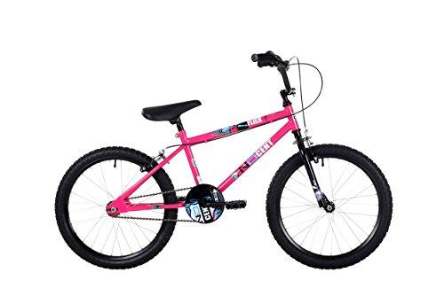 Ndcent Flier Kids' Freestyle Bike Pink/Blue, 10.5' inch steel frame, 1 speed 16' bmx wheels front &...