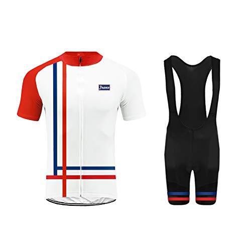 Uglyfrog Équipe de France Maillot Cyclisme Homme Manche Courte Tenue Velo Route Equipe Pro+Cuissard Court avec Gel 3D Rembourré