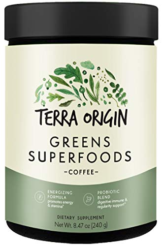 Terra Origin - Greens Superfoods Powder Coffee - 8.47 oz.