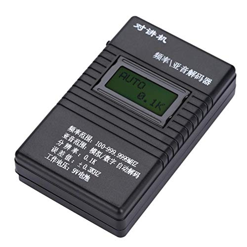 01 Contador de frecuencia portátil, Compacto, Ligero, con Modo de una tecla, Duradero, Contador de frecuencia, para usuarios de walkie-Talkie, Aficionados, Uso General, Uso Profesional
