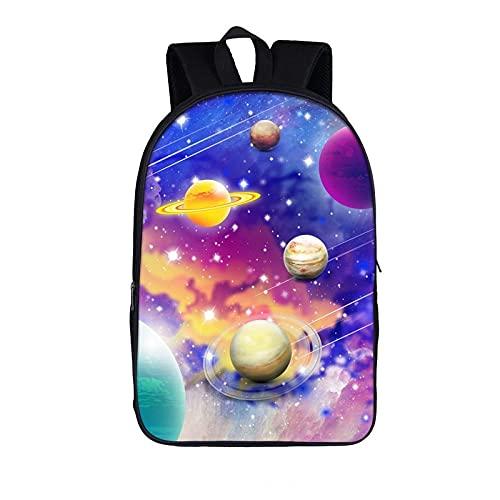 Galaxy Noche Estrellada Mochila Universo Planeta Adolescente niña Mochilas Escolares niños Mochila Escolar Mujeres Hombres Bolsa de Libros Regalo para niños A