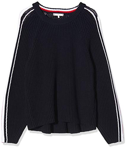Tommy Hilfiger Damen Th Essential Chunky C-nk SWTR Sweatshirt, Blau (Blue DW5), 75 (Herstellergröße: XX-Large)
