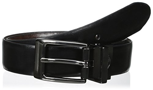 Dickies Boys' Feather Edge Dress Reversible Belt, Black/Brown, Small/22-24 Inches