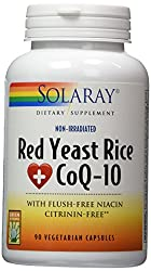 professional Solaray Red Yeast Rice Plus CoQ-10 | With Niacin for Additional Cardiovascular Support …