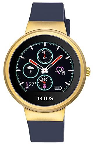 TOUS Reloj Activity Rond Touch de Acero IP Dorado con Correa de Silicona Intercambiable.