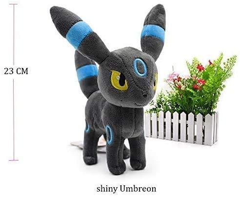Lanmando Standing Shiny Umbreon Animal Stuffed Plush Quality Cartoon Toy (Shiny Umbreon)