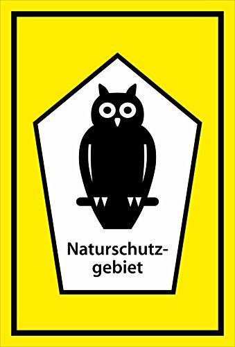 Melis Folienwerkstatt Schild Naturschutz-Gebiet - 15x10cm - 3mm Aluverbund – 20 VAR S00359-035-C